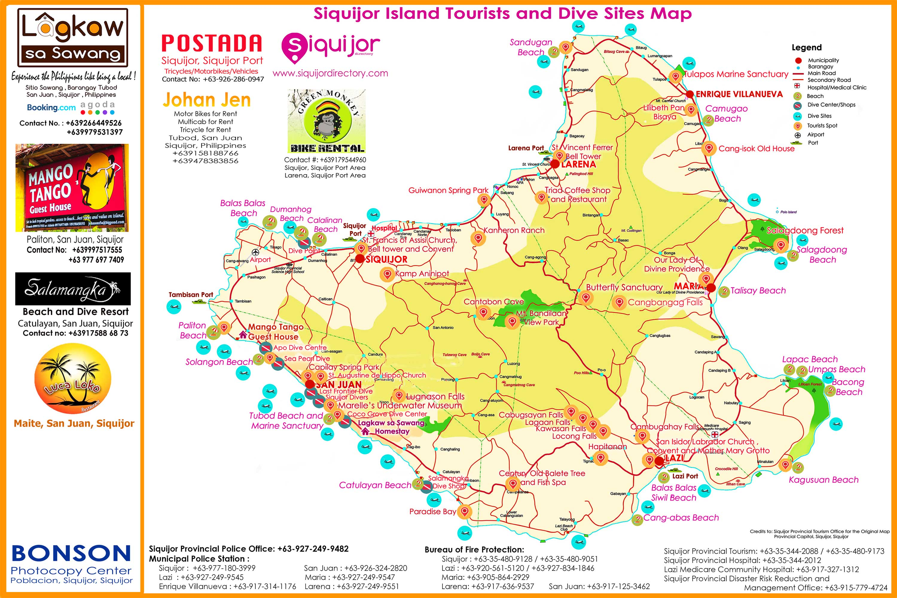 Siquijor Island Guide Map 3