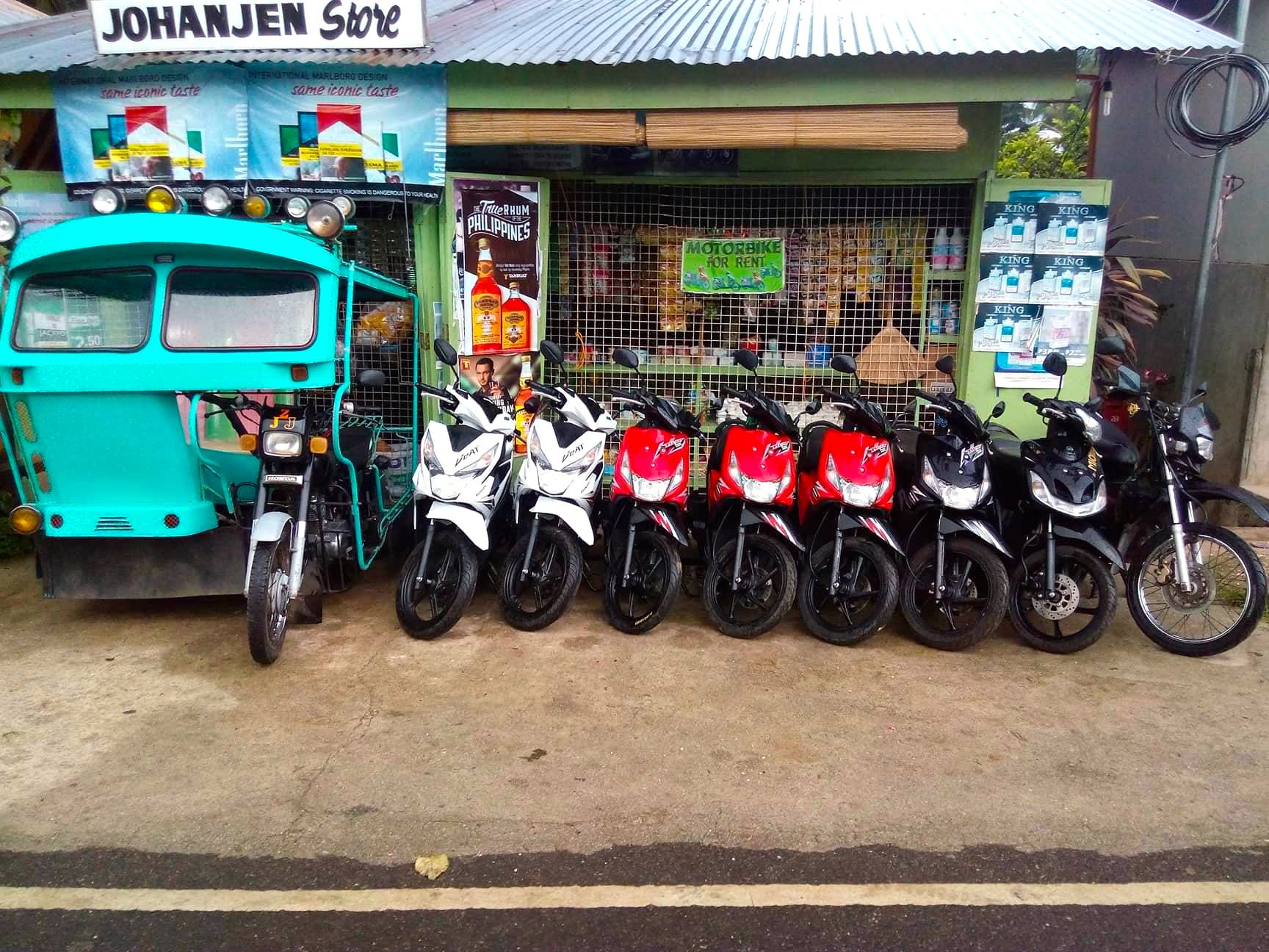 Johanjen Motorcycle and Tricycle for Rent